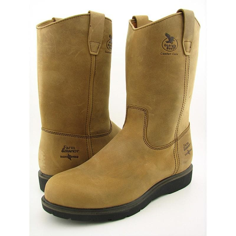 GEORGIA Men's G4432 Brown Boots - Thumbnail 0