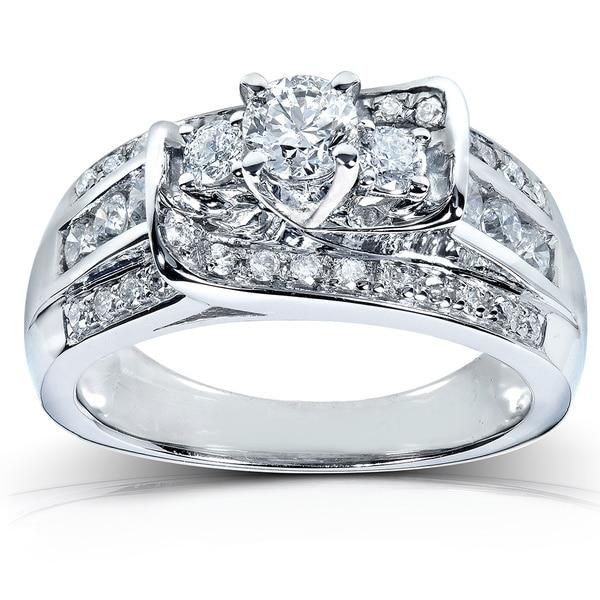 Annello by Kobelli 14k White Gold 1ct TDW Diamond Engagement Ring (G-H, I1-I2)