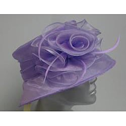 Swan Hat Women's Lavender Organza Packable Hat