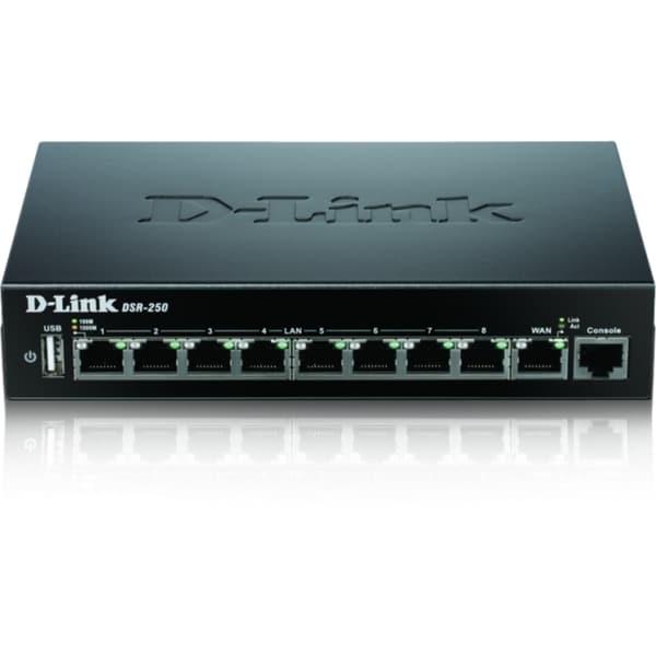 D-Link DSR-250 8-Port Gigabit VPN Router with Dynamic Web Content Fil