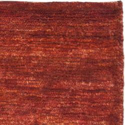 Safavieh Hand-knotted Vegetable Dye Solo Rust Hemp Rug (8' x 10') - Thumbnail 1