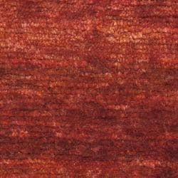 Safavieh Hand-knotted Vegetable Dye Solo Rust Hemp Rug (8' x 10') - Thumbnail 2