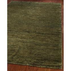Safavieh Hand-knotted Vegetable Dye Solo Green Hemp Rug (2' 6 x 14')