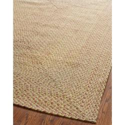 Safavieh Hand-woven Reversible Red/ Green Braided Rug (6' x 6' Square)