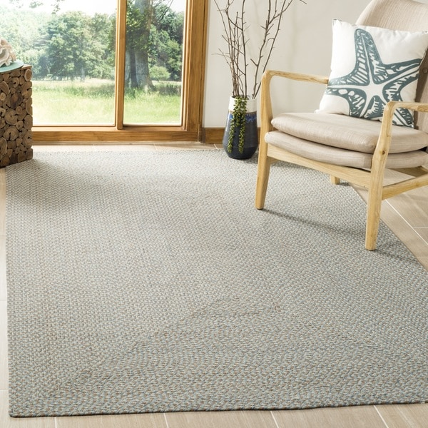 Safavieh Hand-woven Reversible Grey/ Multi Braided Rug - 8' x 10'