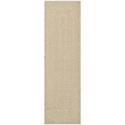 Safavieh Hand-woven Reversible Beige/ Brown Braided Rug (2' 3 x 12')