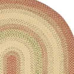 Safavieh Hand Woven Reversible Rust Ivory Braided Rug 9
