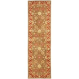 Safavieh Handmade Heritage Timeless Traditional Beige/ Rust Wool Rug (2'3 x 20')