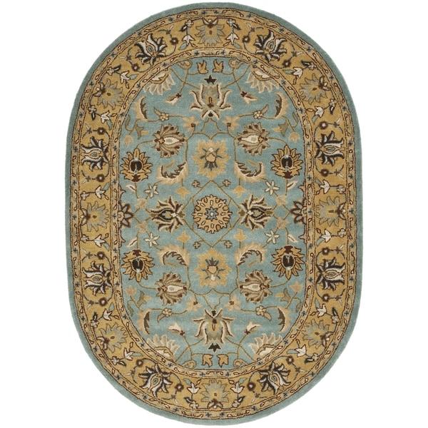 Safavieh Handmade Heritage Timeless Traditional Blue/ Gold Wool Rug (7'6 x 9'6)