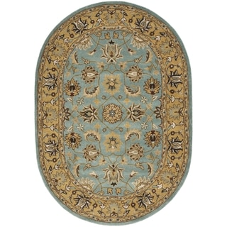 Safavieh Handmade Heritage Timeless Traditional Blue/ Gold Wool Rug (7'6 x 9'6)