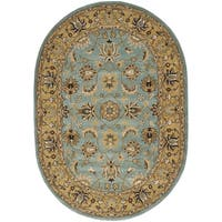 "Safavieh Handmade Heritage Timeless Traditional Blue/ Gold Wool Rug - 7'6"" x 9'6"""