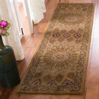"Safavieh Handmade Heritage Timeless Traditional Light Brown/ Grey Wool Rug - 2'3"" x 12'"