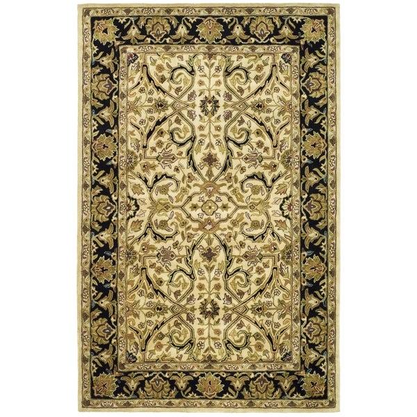 Safavieh Handmade Heritage Timeless Traditional Ivory/ Black Wool Rug - 9'6 x 13'6