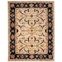 "Safavieh Handmade Heritage Timeless Traditional Ivory/ Black Wool Rug - 9'6"" x 13'6"""
