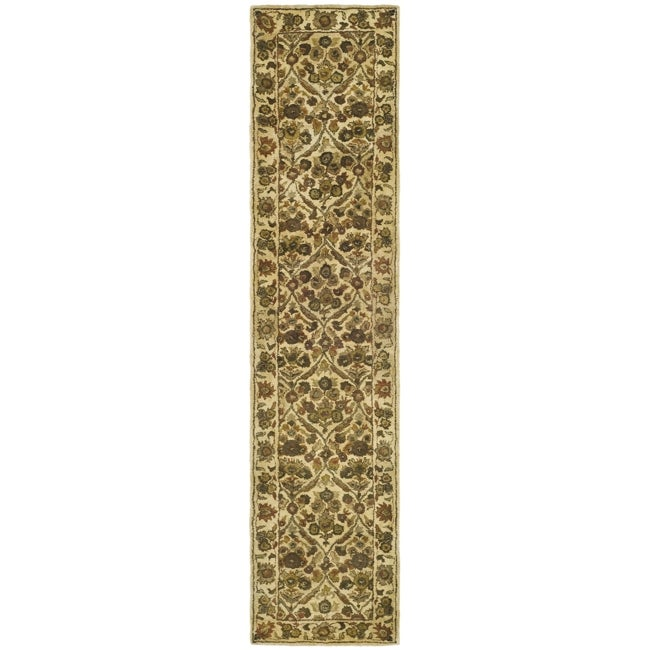 "Safavieh Handmade Treasured Gold Wool Rug - 2'3"" x 12'"