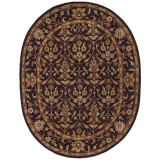 Safavieh Handmade Treasured Dark Plum Wool Rug (7'6 x 9'6 Oval)