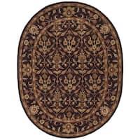 """Safavieh Handmade Treasured Dark Plum Wool Rug - 7'6"""" x 9'6"""" oval"""