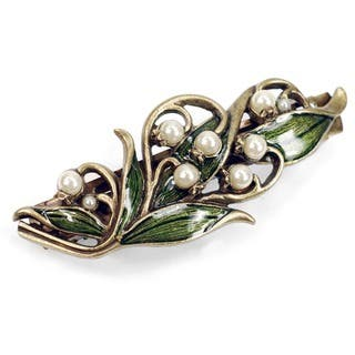 Sweet Romance Lily of the Valley Hair Accessory Bridal Barrette|https://ak1.ostkcdn.com/images/products/6688823/P14243564.jpg?impolicy=medium