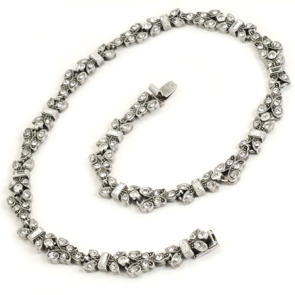 Sweet Romance Deco Crystal Necklace