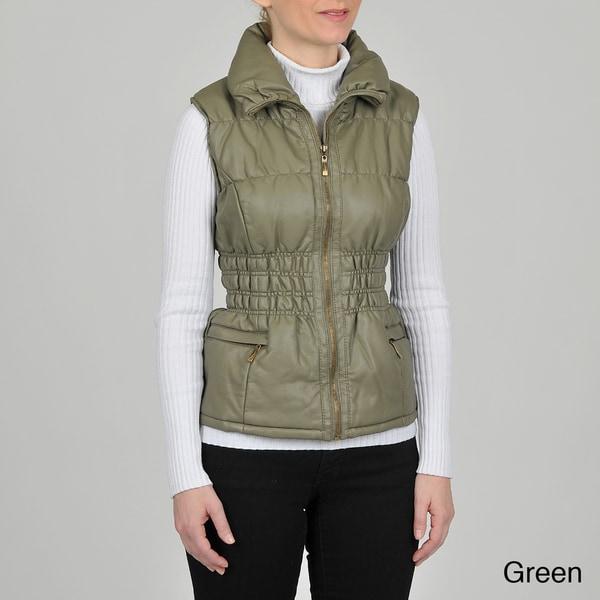 Montanaco Women's Faux Leather Vest