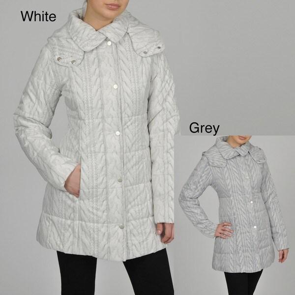 Regent Women's Cable-knit Print 3/4-length Jacket
