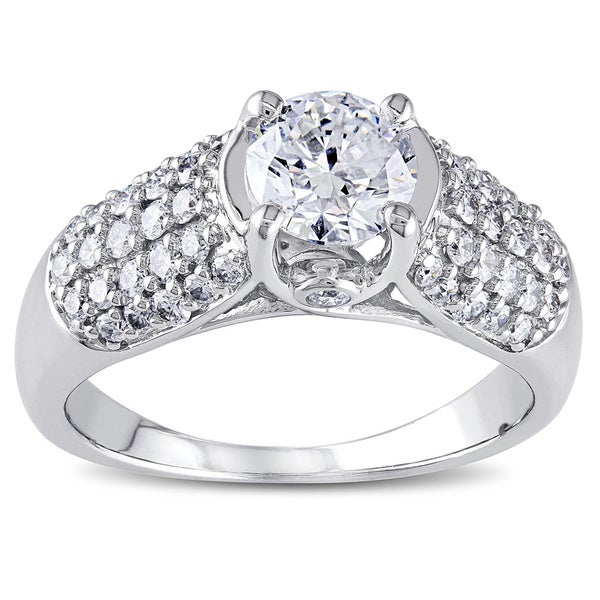 Miadora Signature Collection 14k White Gold 1 1/4ct TDW Certified Diamond Engagement Ring