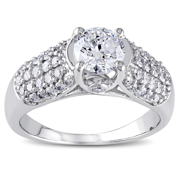 Miadora Signature Collection 14k White Gold 1 1/4ct TDW Certified Diamond Engagement Ring (G-H, I1)