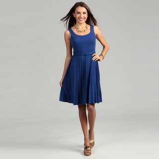 London Times Matte Jersey Dress