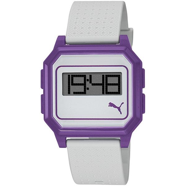 Puma Women's Purple Flat Screen Digital Watch