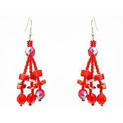 Luzy Red Handmade Earrings (Guatemala)