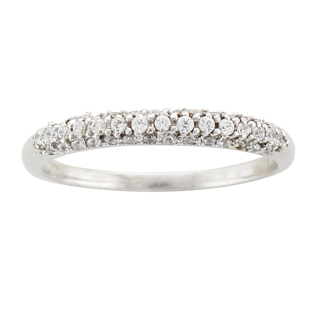 Unending Love Sterling Silver 1/4ct TDW Diamond Band (I-J, I2-I3)