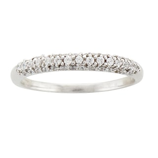 Unending Love Sterling Silver 1/4ct TDW Diamond Band