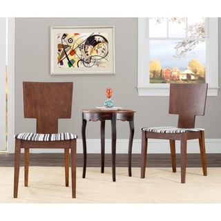 Safavieh Metropolitan Dining Chic Stripe Walnut Finish Dining Chairs (Set of 2)