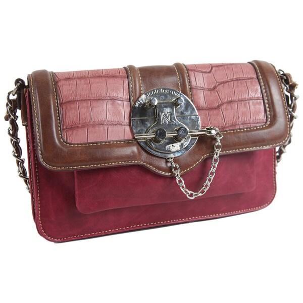 Nicole Lee Jackie Pin-Lock Shoulder Bag