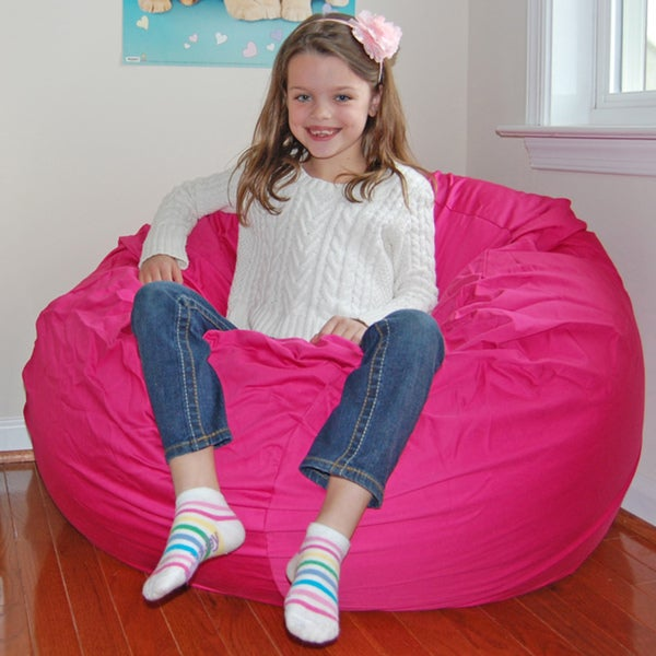 Ahh Products Hot Pink Cotton Washable Bean Bag Chair