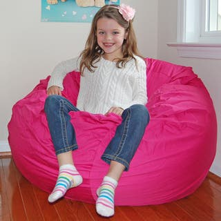 Ahh Products Hot Pink Cotton Washable Bean Bag Chair|https://ak1.ostkcdn.com/images/products/6689189/P14243839.jpg?impolicy=medium