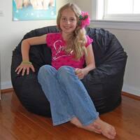 Ahh Products Black Cotton Washable Bean Bag Chair