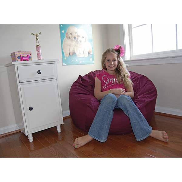 Ahh Products Wine Red Organic Cotton Washable Bean Bag Chair