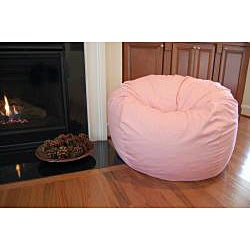 Ahh Products Pink Organic Cotton Washable Bean Bag Chair