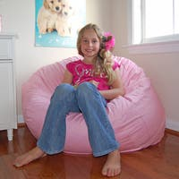 Ahh Products Pink Cotton Washable Bean Bag Chair