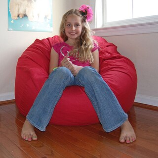 Ahh Products Red Cotton Washable Bean Bag Chair