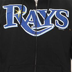 Stitches Men's Tampa Bay Rays Full Zip Hoodie - Thumbnail 2