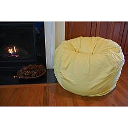 Ahh Products Yellow Organic Cotton Washable Bean Bag Chair