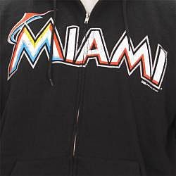 Stitches Men's Miami Marlins Full Zip Hoodie - Thumbnail 2