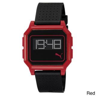 Puma PU910951004 Active Lightweight Flat Screen Plastic Digital Red and Black Watch