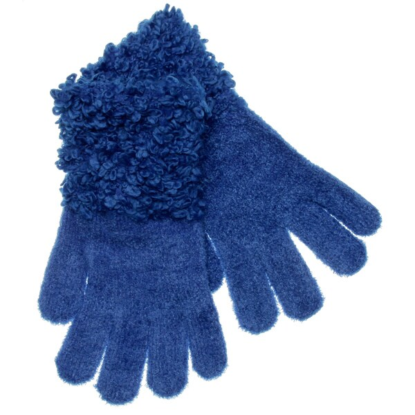 Steve Madden Women's Royal Loopy Knit Gloves