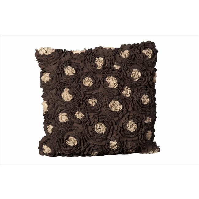 Mina Victory by Nourison Chocolate Felt 20-inch Decorative Pillow