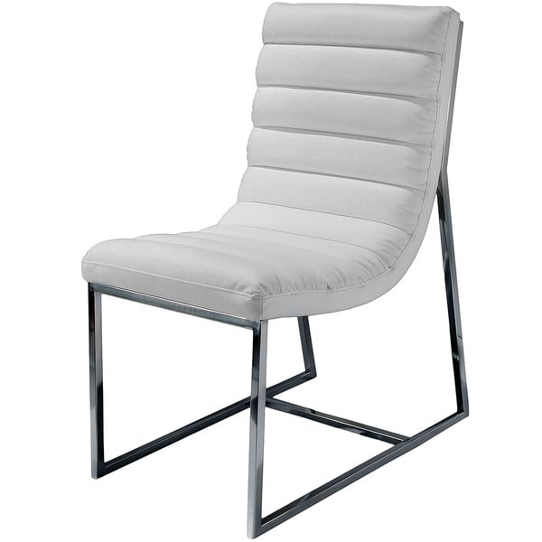Parisian White Leather Dining Chair by Christopher Knight Home