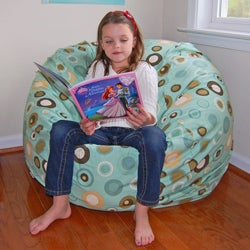 Ahh Products Bubbly Lake Cotton Washable Bean Bag Chair