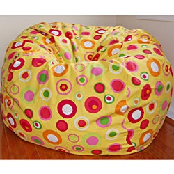 Ahh Products Bubbly Citrus Cotton Washable Bean Bag Chair